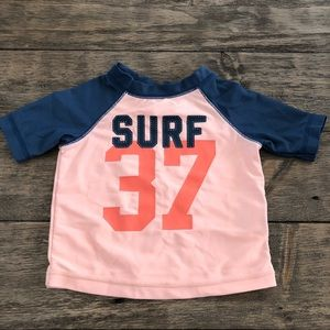 Old Navy Baby Boys Rash Guard Shirt Swim 3-6 Mos